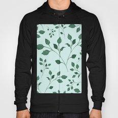 Light Cyan Soft Mint Green Leaves Greenery Pattern Modern Décor Hoody