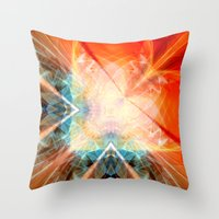angel Throw Pillows featuring Angel by Christine baessler