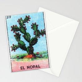 El Nopal Mexican Loteria Bingo Card Stationery Cards
