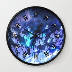 H.E.L.L.O. / blue version Wall Clock