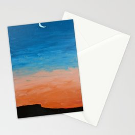 Pre-Dawn Moonrise, painting Stationery Cards