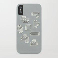 Tetris Papercut iPhone X Slim Case