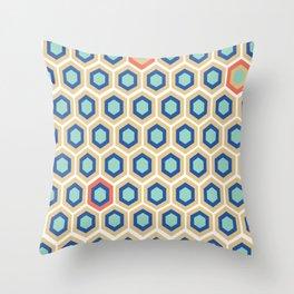 Digital Honeycomb Throw Pillow