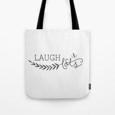 Laugh lots gray Tote Bag