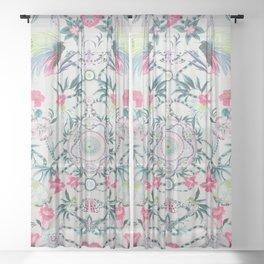 matthew williamson menagerie fabric Sheer Curtain