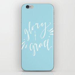 Glory and Grace // Blue iPhone Skin