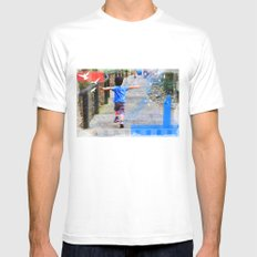 learning to fly 02 White MEDIUM Mens Fitted Tee