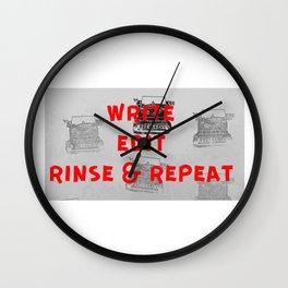 Rinse and repeat Wall Clock