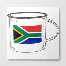 Suid Afrikaanse vlag, met kultuur Metal Print