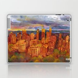 Montreal from Mont Royal during Sunset Laptop & iPad Skin