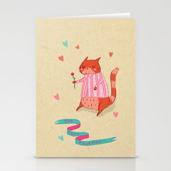 The Cat's Pyjamas Stationery Cards