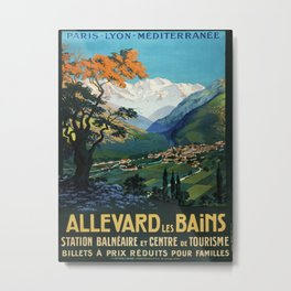 Allevard Les Bains, French Travel Poster Metal Print