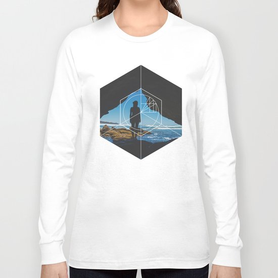 Paradise Cove Girl - Geometric Photography Long Sleeve T-shirt
