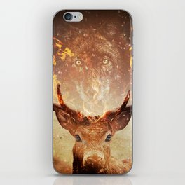 Wolf in the Flames iPhone Skin