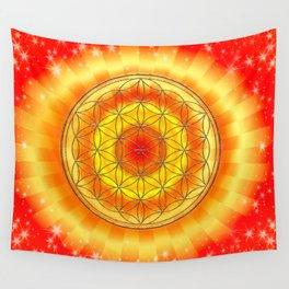 Mandala Blume des Lebens Wall Tapestry