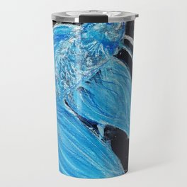 Blue Splatter Drip Betta Travel Mug