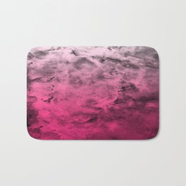 Liquid Space Nebula : Gray to Pink Ombre Gradient Bath Mat