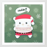 cookies Art Prints featuring cookies? by techjulie