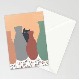Hidden Cat 5 plant pot Stationery Cards