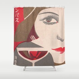 Flapper and Wine Shower Curtain