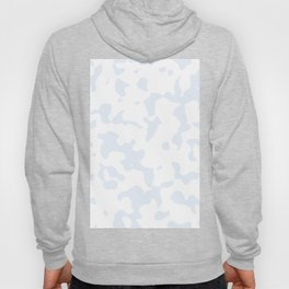 Large Spots - White and Pastel Blue Hoody