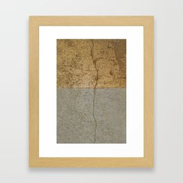 Concrete and gold Framed Art Print