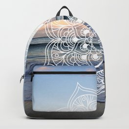 Flower shell mandala - shoreline Backpack