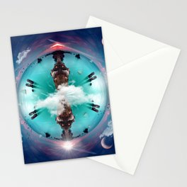 It's a small world Stationery Cards