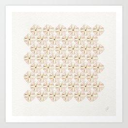 Rose Gold Watercolor Tile Art Print