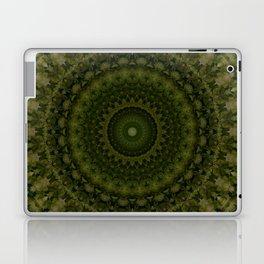 Mandala in olive green tones Laptop & iPad Skin