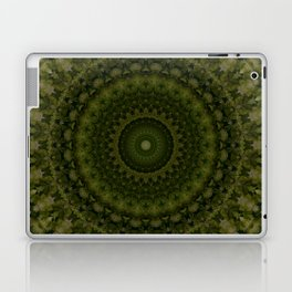 Mandala in olive green tones Laptop & iPad Skin
