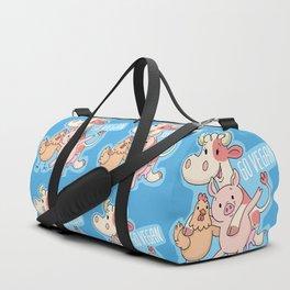 Go Vegan Animals Duffle Bag