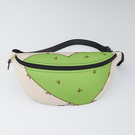 green cactus-heart with love Fanny Pack