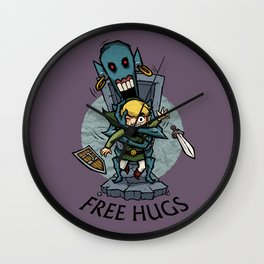 Legend of Zelda Wind Waker FREE HUGS T-Shirt Wall Clock