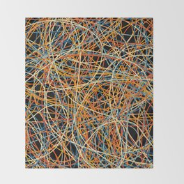 Colored Line Chaos #15 Throw Blanket