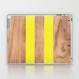 Wood Grain Stripes - Yellow #255 Laptop & iPad Skin