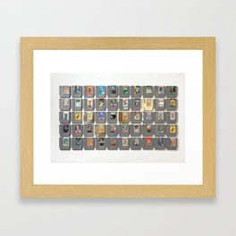 50 Nintendo Games Framed Art Print