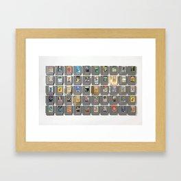 50 Nintendo Games Framed Art Print