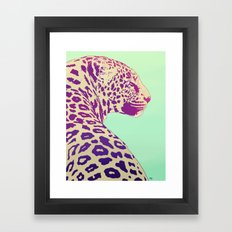Leopard under the Sun Framed Art Print