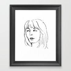 That Look Framed Art Print