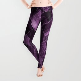 Abstract violet pattern Leggings