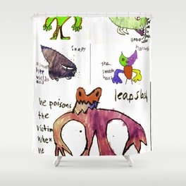 All Monsters LARGE Shower Curtain