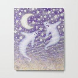 2 ghosts & violet sky Metal Print