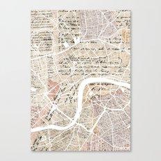 London map Canvas Print