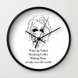 Wake up Wall Clock