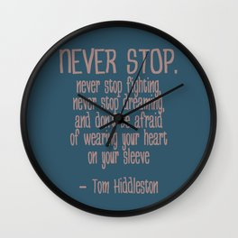 Never Stop Wall Clock