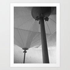 parasol and rain Art Print