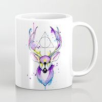 harry potter Mugs featuring Harry Potter Patronus by Simona Borstnar