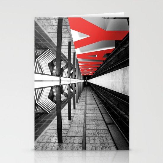 LA subway Stationery Cards