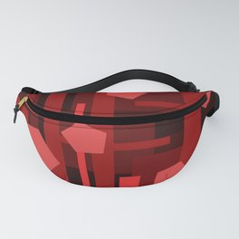 Red Rectangles with Pentagons Fanny Pack